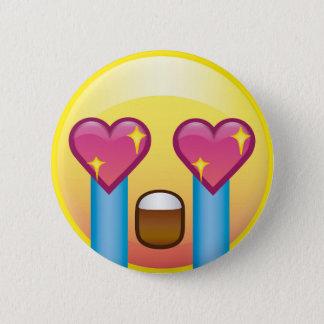 Badges Yeux Emoji pleurant de coeur d'étincelle excités