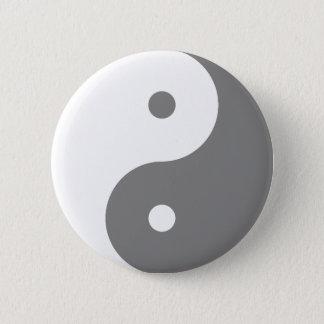 Badges Yin Yang - blanc