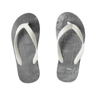 Badine des chaussures de concepteurs : Béton gris Tongs Enfants