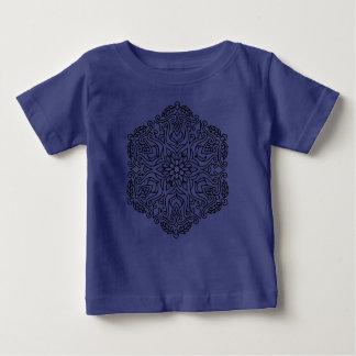 Badine le bleu de T-shirt de concepteurs avec le