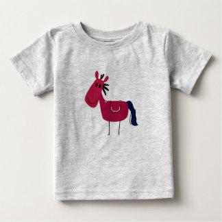 Badine le gris de T-shirt avec le cheval de Brown