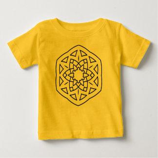 Badine le mandala de jaune de T-shirt de