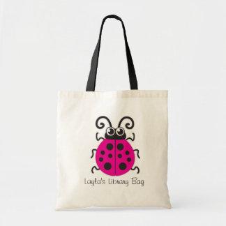 Badine le sac rose mignon de bibliothèque de