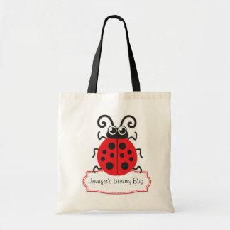 Badine le sac rouge mignon de bibliothèque de