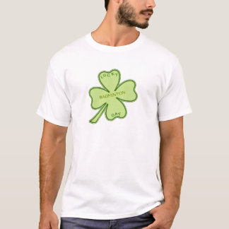 Badminton chanceux de shamrock t-shirt