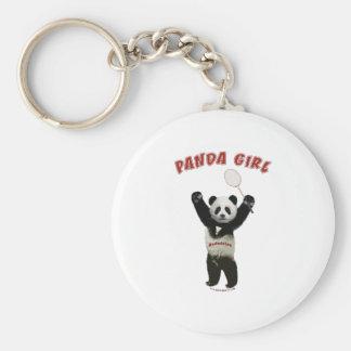 Badminton de fille de panda porte-clés
