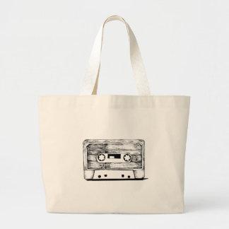Bag - Cassette / K7 Vintage - Retro Cream White Grand Sac