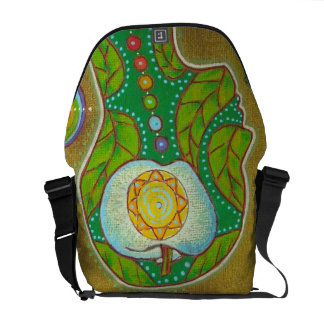 Bag messenger vegan chakras apple sacoche