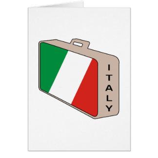Bagage de l'Italie Carte De Vœux