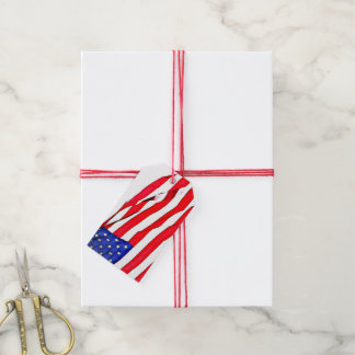Bagage et étiquettes patriotiques