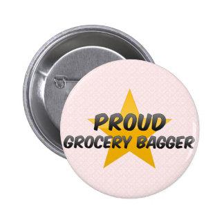 Bagger fier d'épicerie pin's avec agrafe