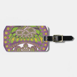 Bagout ethnique décoratif de prune de dentelle étiquette à bagage