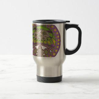 Bagout ethnique décoratif de prune de dentelle mug de voyage
