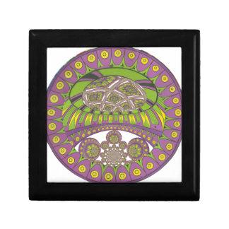 Bagout ethnique décoratif de prune de dentelle petite boîte à bijoux carrée