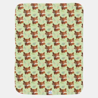 Bagout mignon de Fox, avec le feuille, couverture Couvertures De Bébé