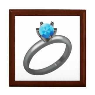 Bague à diamant - Emoji Boîte À Souvenirs