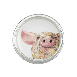 Bague amour des porcs