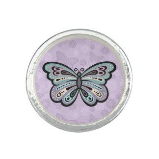 Bague Avec Photo Anneau audacieux de papillon
