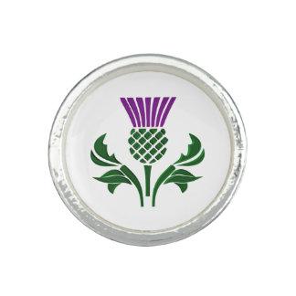 Bague Avec Photo Chardon écossais d'emblème