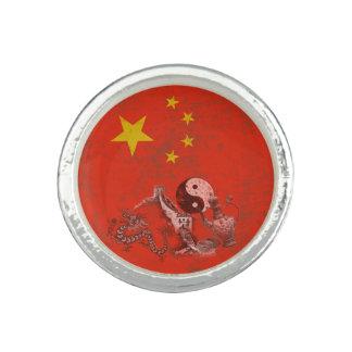 Bague Avec Photo Drapeau et symboles de la Chine ID158
