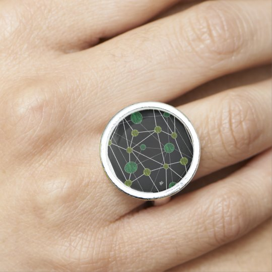 Bague Avec Photo green planet