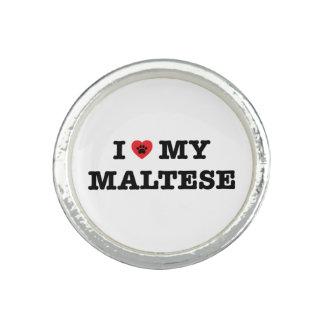 Bague Avec Photo I coeur mon maltais