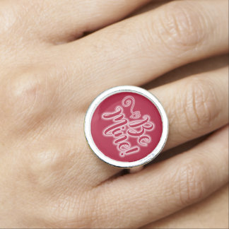 Bague Avec Photo L'anneau de Saint-Valentin soit coeur de
