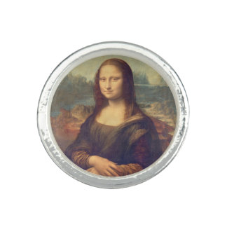 Bague Avec Photo Mona Lisa par Leonardo da Vinci