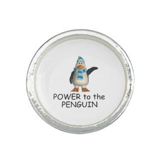 Bague Avec Photo Puissance de pingouin de PIÈCE EN T