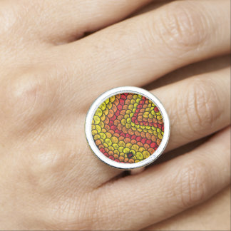 Bague Avec Photo red snake