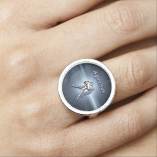 Bague Avec Photo Verseau de chrome