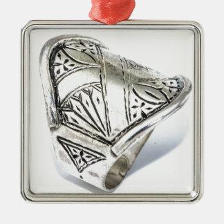 bague-bague-argent-homme-et-femme-cisele-15187579- ornement carré argenté