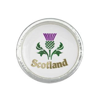 Bague Chardon écossais d'emblème