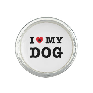 Bague I coeur mon chien