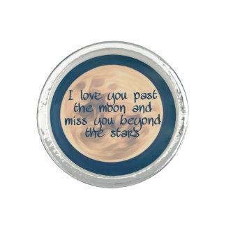 Bague Je t'aime après la lune…