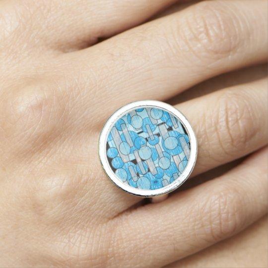 Bagues Avec Photo bleu cristal