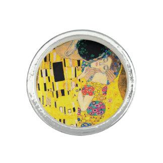 Bagues Avec Photo Le baiser par Gustav Klimt