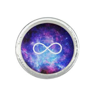 Bagues Avec Photo Nébuleuse de symbole d'infini