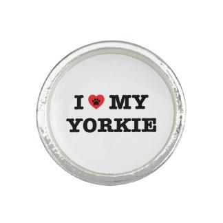 Bagues I coeur mon anneau de Yorkie