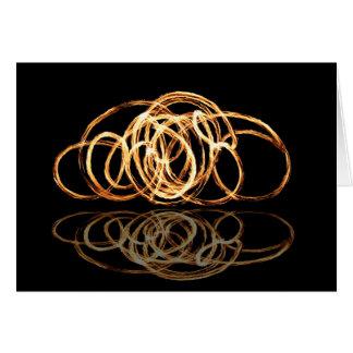 Baguette magique du feu reflétée - cartes de voeux