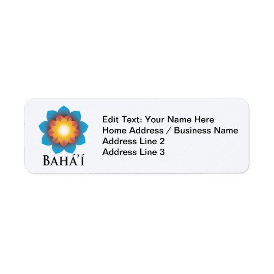 Bahá'í Étiquettes D'adresse Retour