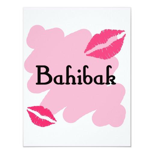 Bahibak - Libanais je t'aime Carton D'invitation 10,79 Cm X 13,97 Cm