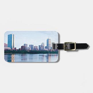Baie arrière de Boston à travers Charles River Étiquette Pour Bagages