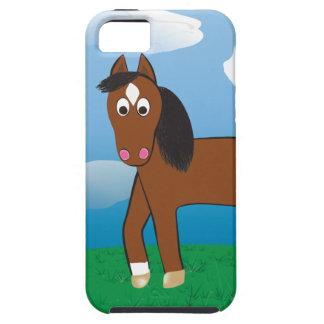Baie de cheval de bande dessinée avec les coques iPhone 5 Case-Mate