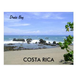 Baie de Drake, péninsule d'Osa, carte postale du