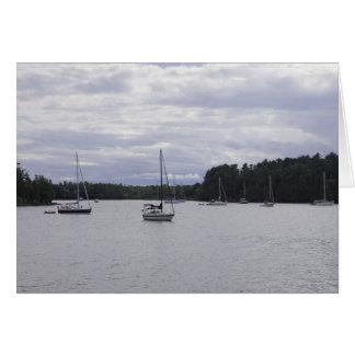 Baie de Kingsland, lac Champlain, Ferrisberg, VT Carte De Vœux