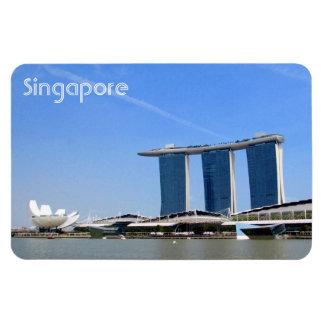 baie de marina de Singapour Magnet Rectangulaire