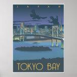 Baie de Tokyo la nuit Poster