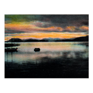 Baie de Wrangell, carte postale de cru de l'Alaska