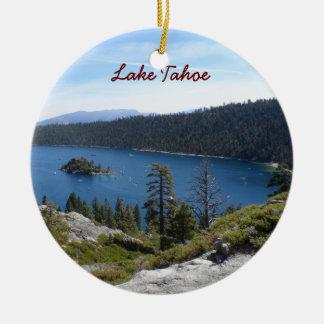 Baie d'émeraude de Tahoe- de lac Ornement Rond En Céramique